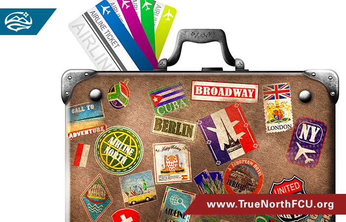 suitcase abroad stickers